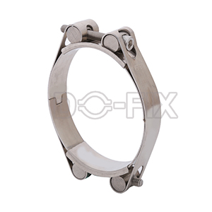 double bolt double band hose clamp
